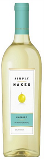 Simply Naked Pinot Grigio Unoaked 2012 750ml - Case of 12
